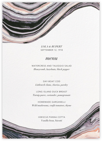 Marbleized (Menu) - Kelly Wearstler - Kelly Wearstler wedding