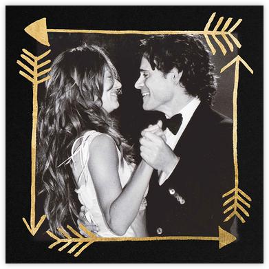 Love Struck (Photo) - Black/Gold - Kelly Wearstler - Valentine's Day Cards