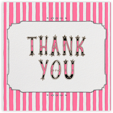 Cirque (Thanks) - Pink - Paperless Post - Thank you cards