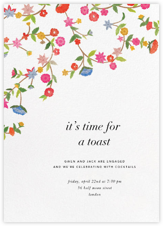 Stitched Floral II - Oscar de la Renta - Engagement party invitations