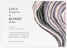 Marbleized (Horizontal Invitation)