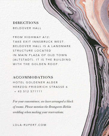 Marbleized (Horizontal Invitation) - Kelly Wearstler - All - insert front