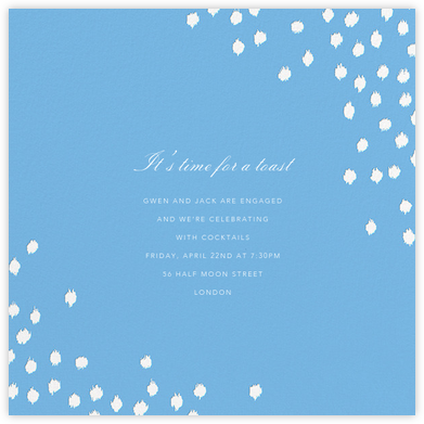 Ikat Dot (Square) - Light Blue - Oscar de la Renta - Engagement party invitations