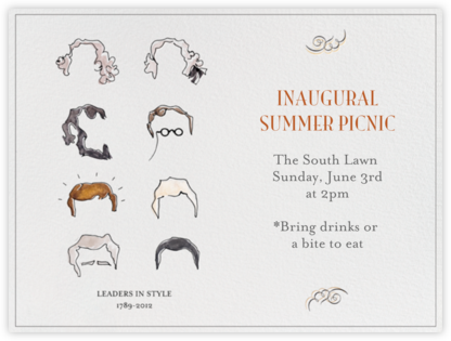 Presidential Hair - Paperless Post - Online Party Invitations