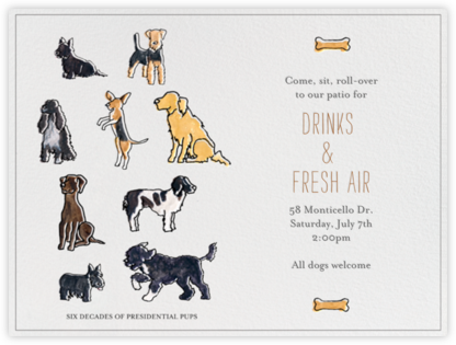 Presidential Dogs - Paperless Post - Online Party Invitations