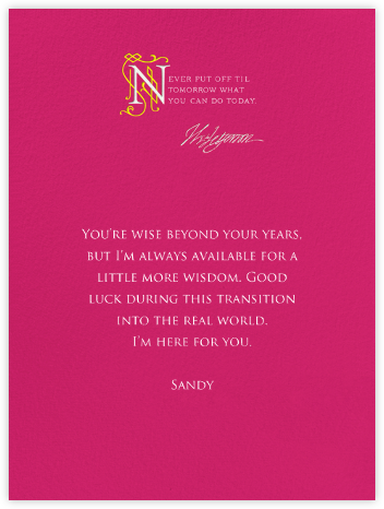 Jefferson Quote - Hot Pink - Paperless Post -
