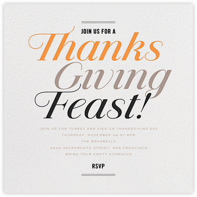 Fantastic Feast - bluepoolroad - Thanksgiving invitations