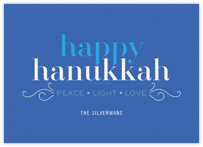 Hanukkah Happiness (Greeting) - bluepoolroad - bluepoolroad invitations and cards
