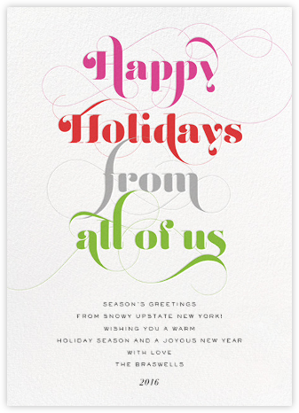Happy Holidays from All of Us - Multi - bluepoolroad - Holiday cards