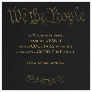 We the People - Paperless Post - Inauguration Invitations
