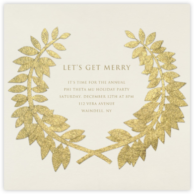 Gold Wreath - Paperless Post -