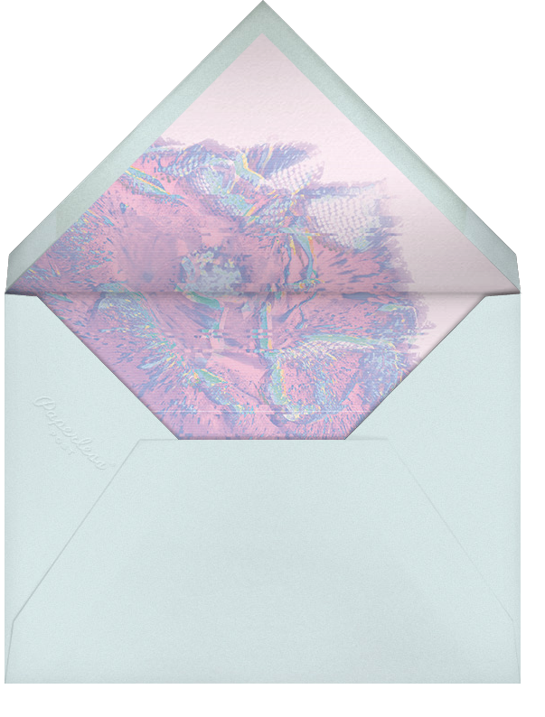 Garden Glitch - White - Paperless Post - Engagement party - envelope back