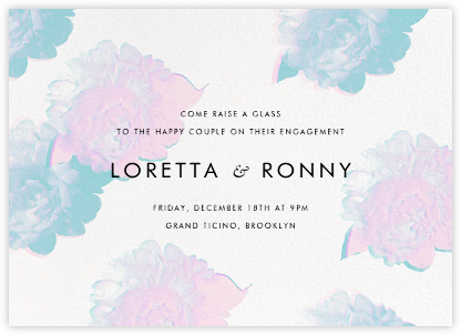 Garden Glitch - White - Paperless Post - Engagement party invitations