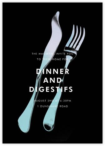 Liquid Dinner - Black - Paperless Post -