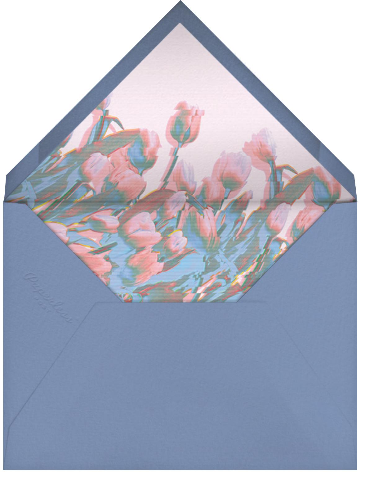 Tulip Vision - Paperless Post - Glitch - envelope back