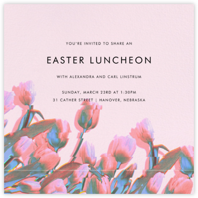 Tulip Vision - Paperless Post - Easter invitations