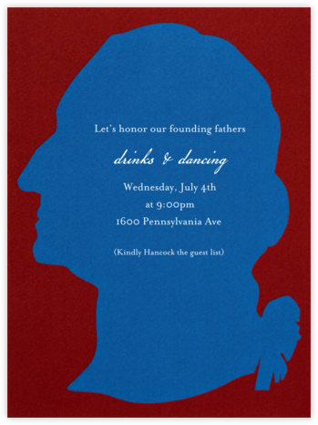 Washington Silhouette - Blue - Paperless Post - Online Party Invitations