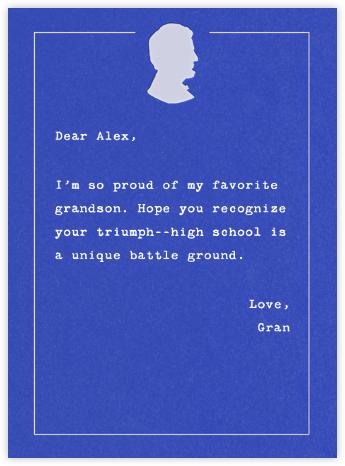 Lincoln Motif - White - Paperless Post - Graduation