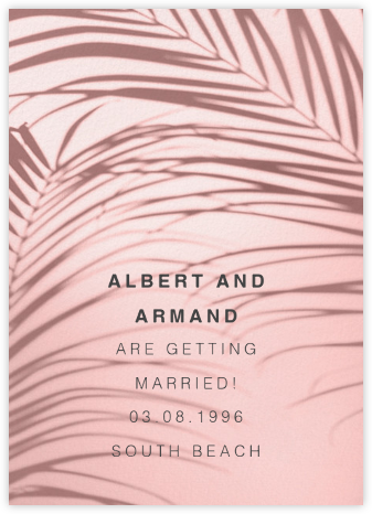 Havana, 7pm - Pink - Paperless Post - Save the dates