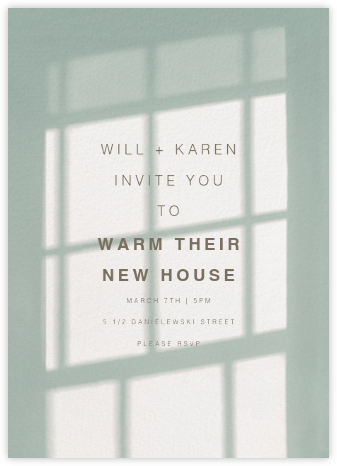 Block Island, 4pm - Green - Paperless Post - Housewarming party invitations