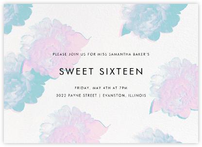 Garden Glitch - White - Paperless Post - Sweet 16 invitations
