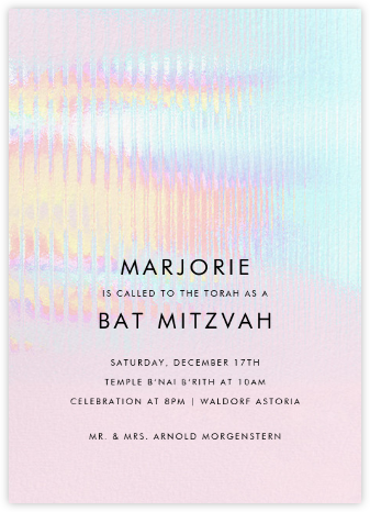 Malibu Haze - Paperless Post - Bat and Bar Mitzvah Invitations