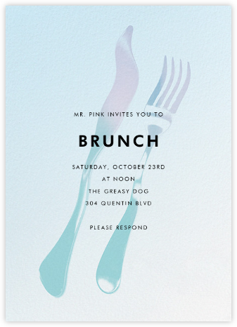 Liquid Dinner - Blue - Paperless Post - Brunch invitations