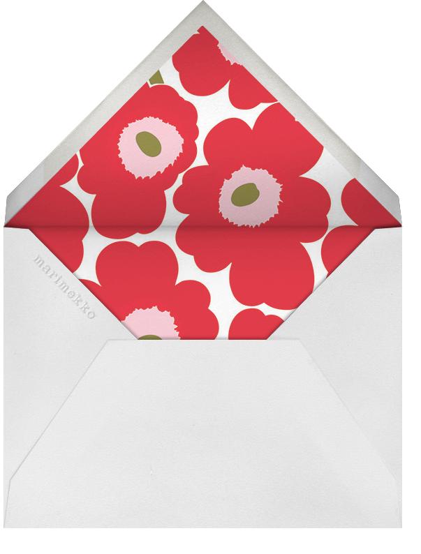 Unikko (Square) - Red/Green - Marimekko - Christmas party - envelope back