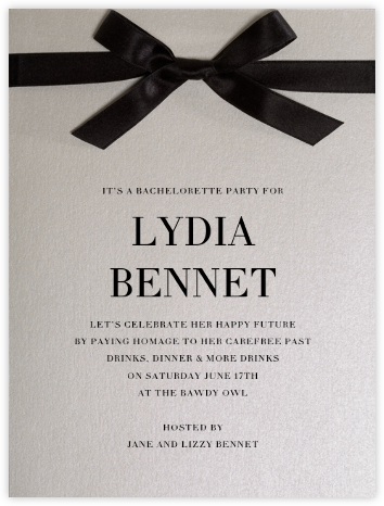 Avenue Montaigne  - Paperless Post - Bachelorette party invitations