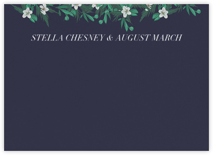 Snowrose Hedge (Stationery) - Navy   null