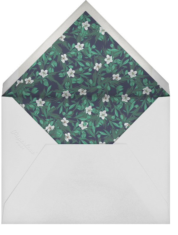Snowrose Hedge (Photo Save the Date) - Navy - Paperless Post - Envelope