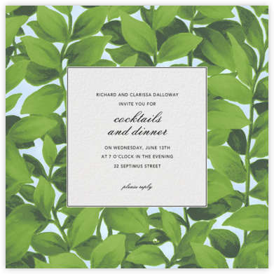 Hedge - Oscar de la Renta - Sorority Event Invitations