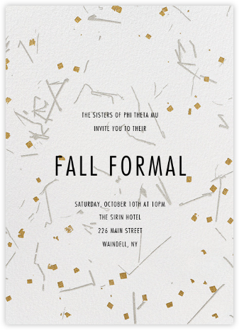 Fetiluxe - White - Kelly Wearstler - Sorority Event Invitations