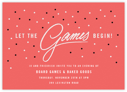The Game Starts Now - Paperless Post - Invitations