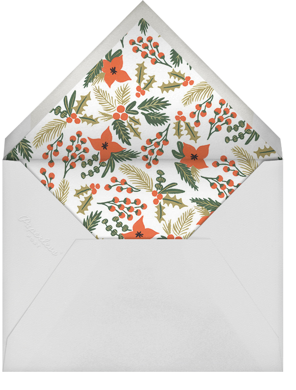 Holiday Potpourri (Square) - Rifle Paper Co. - Holiday save the dates - envelope back