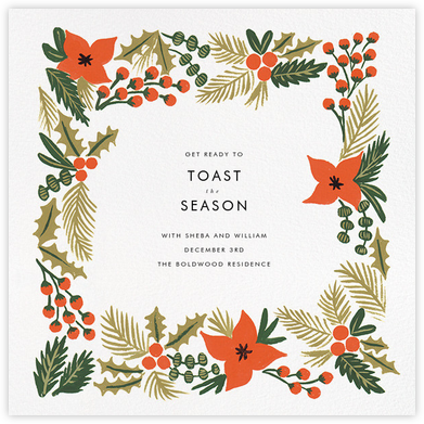 Holiday Potpourri (Square) - Rifle Paper Co. - Save the dates