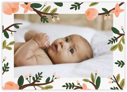 Floral Glade (Photo) - Rifle Paper Co. - Birth Announcements