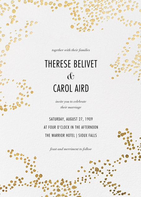 Evoke (Invitation) - White/Gold - Kelly Wearstler - Kelly Wearstler wedding