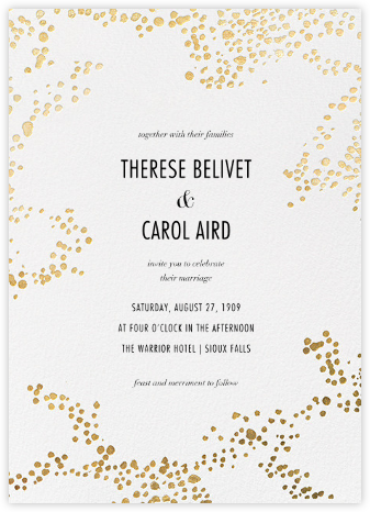 Evoke (Invitation) - White/Gold - Kelly Wearstler - Printable Invitations