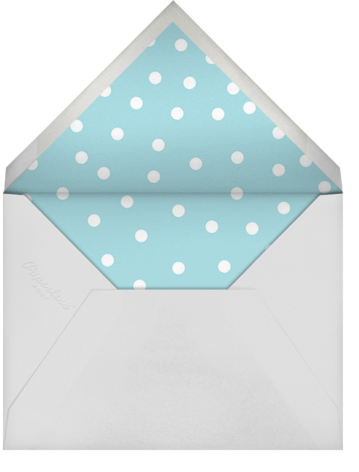 Join Us (Dots) - Pink/Blue/Gold - Linda and Harriett - Baby shower - envelope back