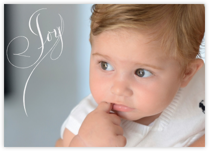 Joy (Photo) - White - Bernard Maisner - Holiday cards