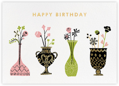 Vase to Vase (Greeting) - kate spade new york - Online Greeting Cards