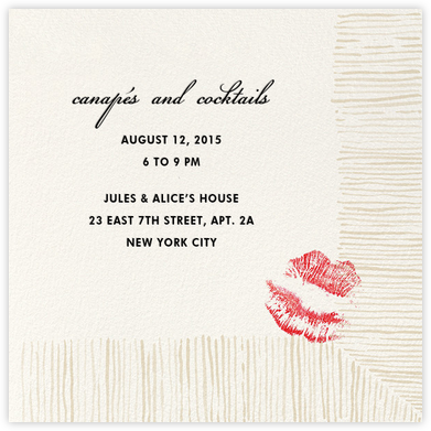 Cocktail Napkin - kate spade new york - Kate Spade invitations, save the dates, and cards