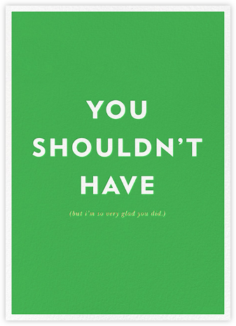 Parenthetical Thanks - kate spade new york - Online Greeting Cards