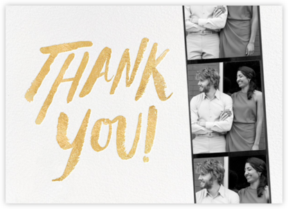 Photo Booth Thank You - Gold - kate spade new york - Kate Spade invitations, save the dates, and cards