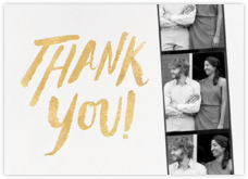 Photo Booth Thank You - Gold - kate spade new york - Online greeting cards