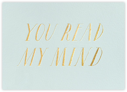You Read My Mind - kate spade new york - Online Thank You Cards