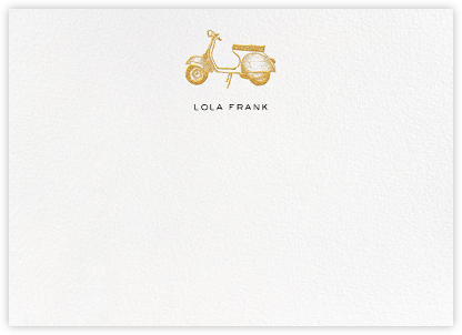Vespa - Gold - kate spade new york - Personalized Stationery