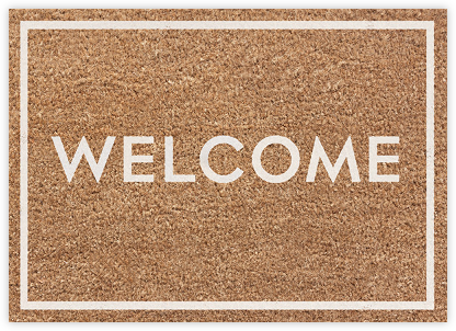 Welcome Mat (Greeting) - kate spade new york - Online Greeting Cards