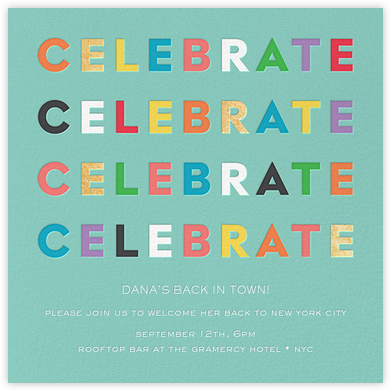 Colorful Celebration - kate spade new york - General Entertaining Invitations